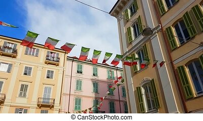 Italian Waving Flags - Waving Italian Flags With A Beautiful...