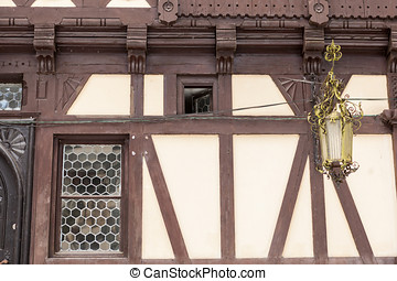 Details of Pelisor Castle from Sinaia, Romania. Medieval...