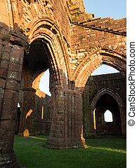 Sweetheart Abbey, Scotland - Inside the ruins of Sweetheart...