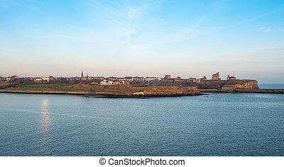 Newcastle coastline, UK - View on Newcastle shoreline, UK...