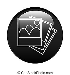 black circular frame with pictures icon