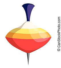 Spinning top vector illustration of Humming-top isolate on white background