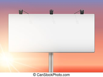 Closeup Empty mockup billboard
