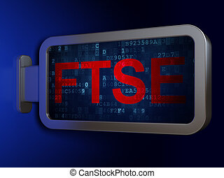 Stock market indexes concept: FTSE on billboard background