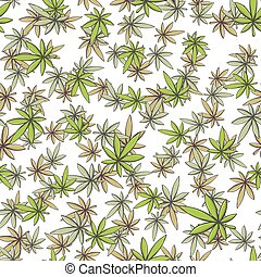 Seamless Texture Marijuana One - Seamless texture of medical...