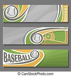 Vector horizontal Banners for Baseball