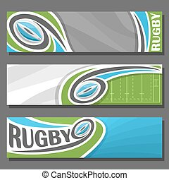 Vector horizontal Banners for Rugby