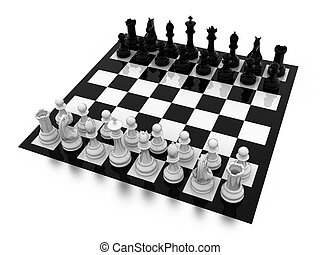 Chess - Illustration of figures for game in chess on a board