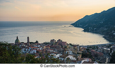 Panoramic view of Vietri sul Mare town in Italy - Panoramic...