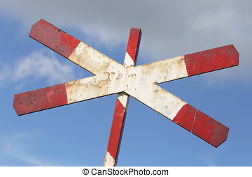 level crossing with single track - Dutch road sign: level...