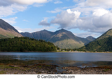 Loch Leven in Scotland - Loch Leven in the Highlands of...