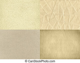 The set of four vintage paper textures
