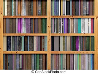 Bookshelves - Illustration of lots of book filling up...