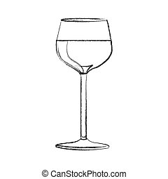 monochrome blurred contour of glass cup