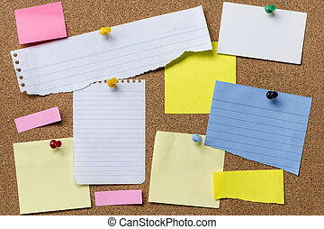 Paper Tears Pinned to Corkboard