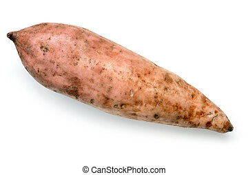Sweet Potato isolated Top View