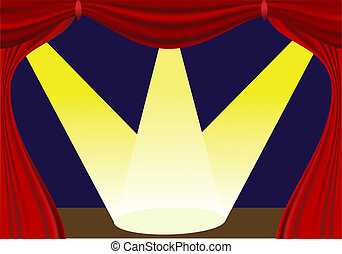 red curtain - vector