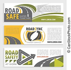 Road safety and transit service banner template