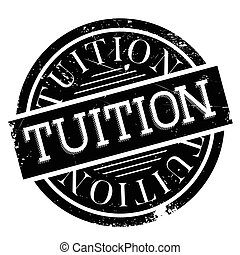 Tuition rubber stamp. Grunge design with dust scratches....