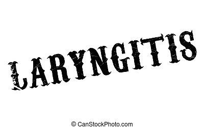Laryngitis rubber stamp. Grunge design with dust scratches....