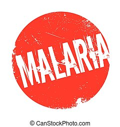 Malaria rubber stamp. Grunge design with dust scratches....