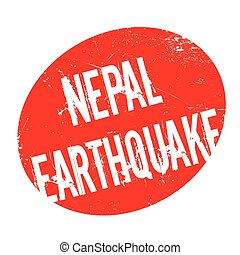 Nepal Earthquake rubber stamp. Grunge design with dust...