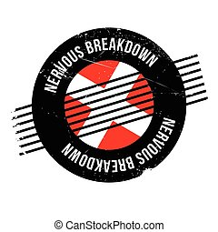 Nervous Breakdown rubber stamp. Grunge design with dust...