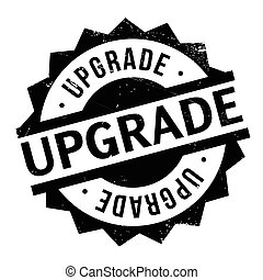 Upgrade rubber stamp. Grunge design with dust scratches....