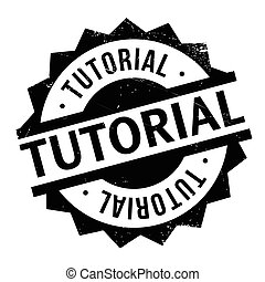 Tutorial rubber stamp. Grunge design with dust scratches....