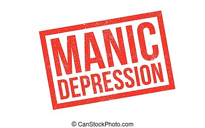 Manic Depression rubber stamp. Grunge design with dust...