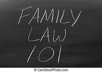 Family Law 101 On A Blackboard