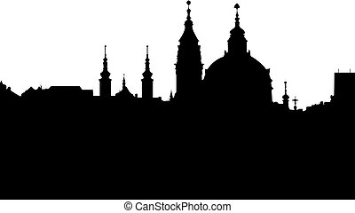 Church of St Nikolas - vector - Outline of the St Nikolas...