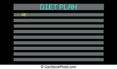 concept of diet plan