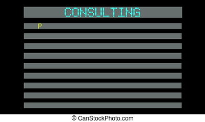 concept of consulting - animation- concept of consulting
