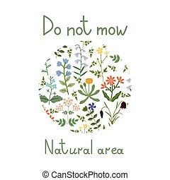 Do not mow illustration - Do not mow vector label
