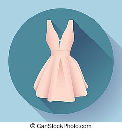 woman dress icon vector - evening woman dress icon vector...