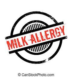 Milk Allergy rubber stamp. Grunge design with dust...