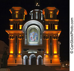 Ortodox cathedral from Caransebes,Caras-Severin, Romania. 15...