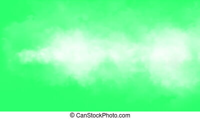 Clouds effect on green screen - animation - Clouds effect on...