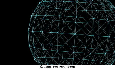 Triangles fantasy abstract technology and engineering -...