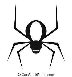 Spider icon, simple style - Spider icon. Simple illustration...