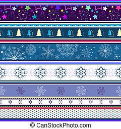 Seamless striped christmas wallpaper with stars and...