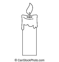 Candle icon, outline style - Candle icon. Outline...