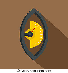 Hand power meter icon, flat style - Hand power meter icon....