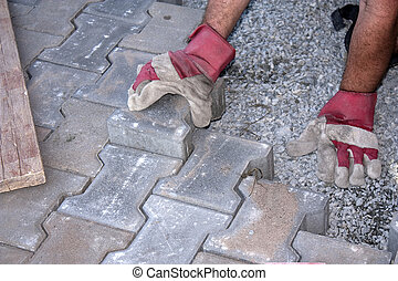 Paver - construction of pavement on gravel