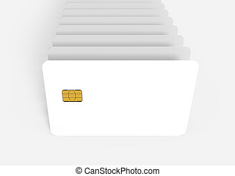 blank chip card - countless blank white chip card models, 3d...