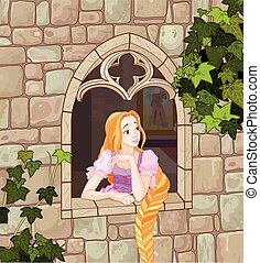 Beautiful Princess - Illustration of beautiful girl dressed...