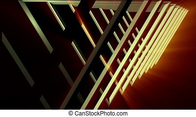 concentric simple triangles tunnel - 3d animation of...