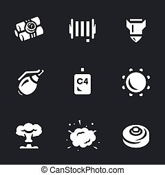 Vector Set of Explosive Icons.