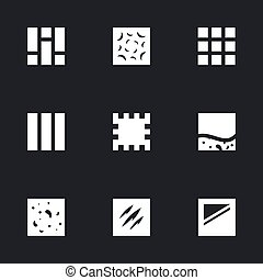 Vector Set of Flooring Icons.